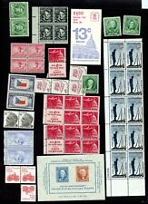 U.S.POSTAGE LOT $10..FACE ALL MNH inc.BOOKLETS