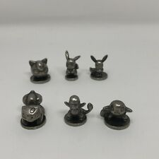 Monopoly Pokemon Kanto Edition - Replacement Pewter Tokens full set