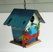 "Metal Art Decorative Hanging Bird House ""Beach"" 10"" X 9 1/2"""