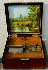 Kalliope Spieluhr Leipzig mit 22 Platten 33,8 cm antik funktionstüchtig