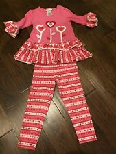 Bonnie Jean Pink And Red Heart Valentine Outfit Size 6