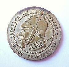 NAPOLEON III  médaille satirique 25mm argentée
