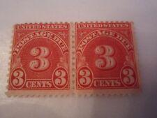 U.S. 1930 #22 3 CENT POSTAGE DUE STAMP PAIR - MINT - FULL GUM