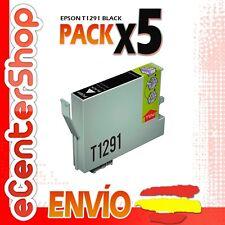 5 Cartuchos de Tinta Negra T1291 NON-OEM Epson Stylus SX235W