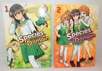 SPECIES DOMAIN Manga Paperback Books Volumes 1 and 2 by Shunsuke Noro - English