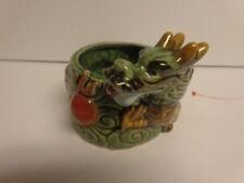 Vintage Chinese Dragon Ceramic Pottery Planter or trinket box