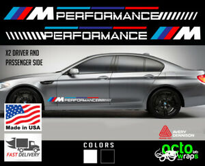 Fits BMW M M3 M4 M5 M6 sides stripes windshield NEW decal sticker emblems door
