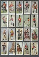 1914 John Player Regimental Uniforms Brown Backs Tobacco Cards Near Set of 47/50