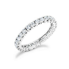 in 14k white gold Pe-75W Diamond Prong Set .75Ct Eternity band
