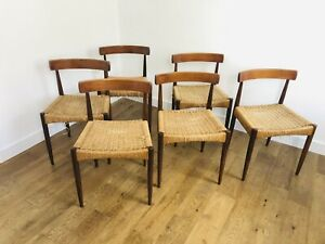Arne Hovmand Olsen Dining Chairs For Mogens Kold.  Danish / Mid Century.