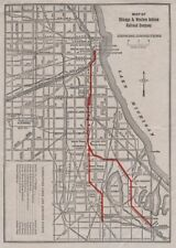 Chicago & Western Indiana Railroad Co. map. Connections. Dearborn Station c1925