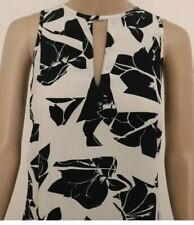 Grace Hill Dress Size 12 Silk Ladies Navy White Maxi Sleeveless Slip Dress