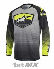 Alpinestars Racer SUPERMATIC Motocross Jersey Flo Yellow Grey Adult Small SALE