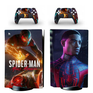 Spiderman Miles Morales Decal Skin Sticker Cover for PS5 Console Disc Version