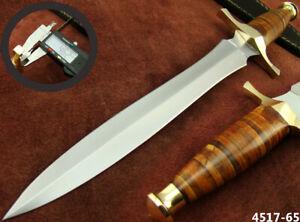 "SUPERB HANDMADE 15"" STAINLESS STEEL DAGGER HUNTING KNIFE W/SHEATH NEW (4517-65"