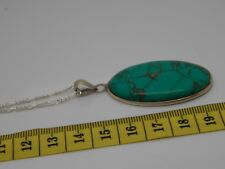 Beautiful Sterling Silver Turquoise Pendant necklace Chain
