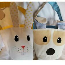 NWT Baby Easter Basket / Tote Sturdy Canvas Bunny or Puppy
