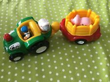 wow toy playset tractor and farm animals