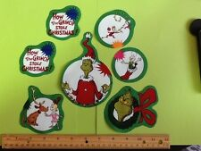 Style#4  The Grinch Who Stole Christmas Fabric Iron On Appliques - Christmas