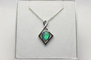 Australian Triplet Opal Pendant Sterling Silver Setting