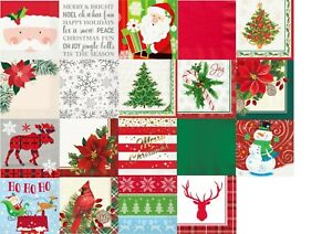 16 / 20 Christmas Table Napkins Paper Serviettes Party Tableware Beverage Xmas