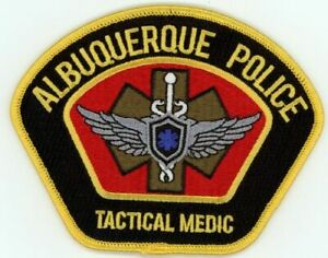 NEW MEXICO NM ALBUQUERQUE POLICE TACTICAL MEDIC NEW PATCH SHERIFF STYLE 2 OF 2
