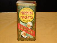 "FOOD 8"" HIGH MANNING & MACKAY'S COUGH DROPS  TIN    EMPTY"