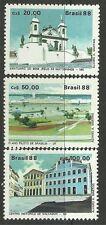 Brasil. 1988. la UNESCO de patrimonio mundial. Sg: 2310/12. menta nunca con bisagras.