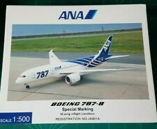 HOGAN 1:500 ANA - B787-800 with Wing In Flight Conf. / with stand and RWY