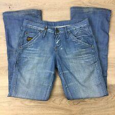 G-Star Raw 3301 Medin Loose Boot Cut Women's Jeans Pants Size 26 W30 L30 (II3)