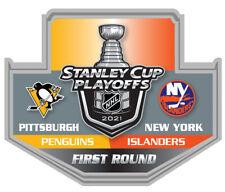 2021 STANLEY Tasse Playoffs Broche Pingouins Vs N.y. Islanders 1ST Premier Rond