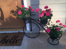 Iron Bicycle Planter Garden Vintage Tricycle Plant Stand  Flower Pot Card Holder
