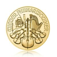 1 oz Gold Wiener Philharmoniker 1990 Österreich  / 31,1g 999 GOLD ST selten