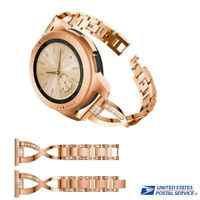 Luxury Replacement Metal Crystal Watch Strap Wrist Band For Samsung Galaxy Watch