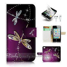 ( For iPhone 4 / 4S ) Flip Case Cover! P1844 Dragonfly