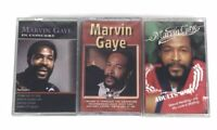 Lot Of 3 Brand NEW Marvin Gaye Cassette Tapes Adults Only In Concert SEALED