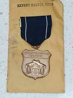 Vintage US Coast Guard Expert Pistol Medal & Ribbon