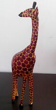 Wooden Hand Carved GIRAFFE 8 Inches Tall Handmade Carving Kenya