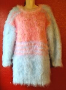 One Off Exclusive Design!Large Unisex,Mohair Sweater.Hand Knit/10 Strands.M/L/XL