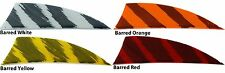"Gateway Feathers 2"" Rayzr R/W 50 pk Barred Red Orange Yellow White"
