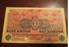 More details for 1 krone deutshce-austria 1916 high grade banknote - - -  old rare collector note