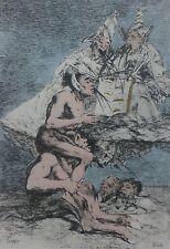 Salvador Dali Goya los Caprichos Buzos Del Futuro Firmado a Mano Numberd Litho