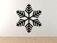 Snowflake Pattern #2 - Winter Art Christmas Decoration - Vinyl Wall Decal Decor