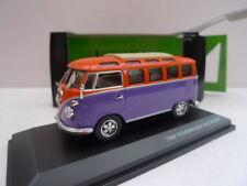 YAT MING - VW MICROBUS 1962 VIOLET ET ORANGE  - 1/43