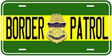 Border Patrol US Aluminum Novelty Car License Plate
