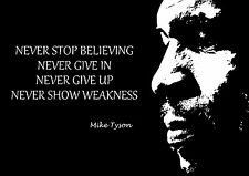 BOXER MIKE TYSON INSPIRIEREND MOTIVATIONS POSTER DRUCK NEVER STOP BELIEVING