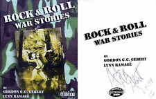 Gordon G.G. Gebert~Lynn Ramage SIGNED Rock & Roll War Stories 1st/1st RARE!!