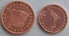1+2 Euro Cent Slowenien 2009 unz