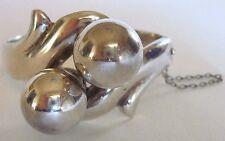 Vintage Gonzalo Moreno Mexico Argent Sterling Bracelet à Charnière Bracelet