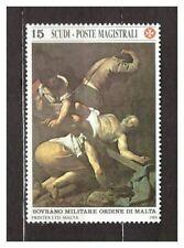 s31366) SMOM 1988 MNH** Caravaggio painting 1v